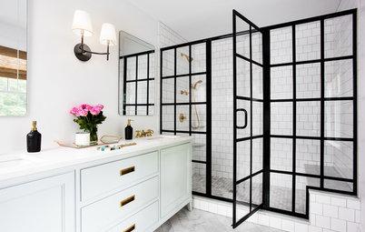 10 Reasons to Embrace Black-Framed Shower Doors