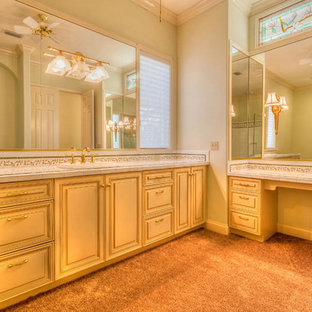 This is an example of a mediterranean bathroom in Jacksonville with white tiles and tiled worktops.
