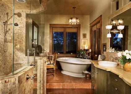 Mediterranean Bathroom by Terrie Hall
