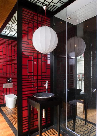 Asiatique Salle de Bain by EXIT Interior Design Studio
