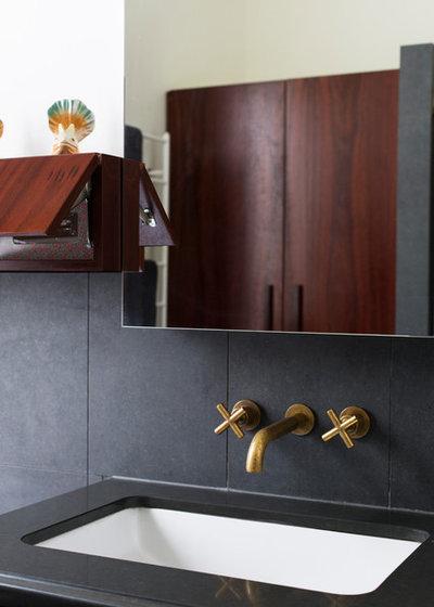 Eclectic Bathroom by Camilla Molders Design