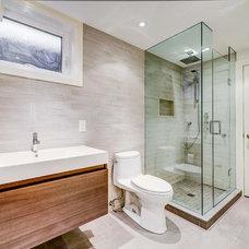 Contemporary Bathroom by Bravehart Design Build