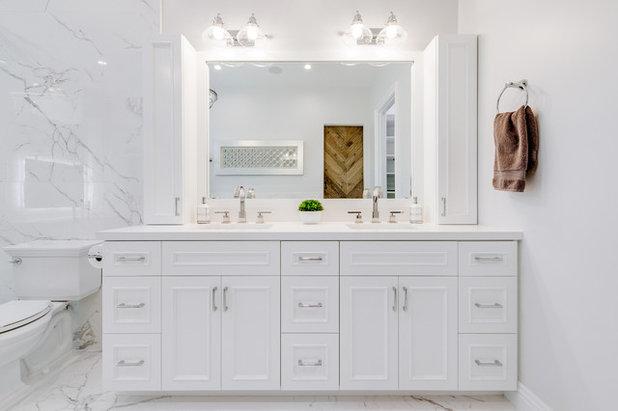 Transitional Bathroom by Spazio LA