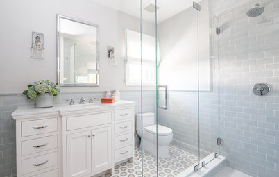 Vintage Style Gets an Update in a Historic Home's Guest Bath