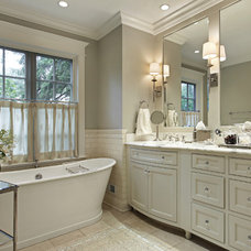 Traditional Bathroom by Robert Frank Design