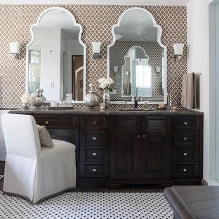 Inspiration for a mediterranean freestanding bathtub remodel in Los Angeles