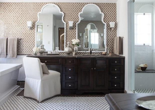 Mediterranean Bathroom by Kathryne Designs, Inc