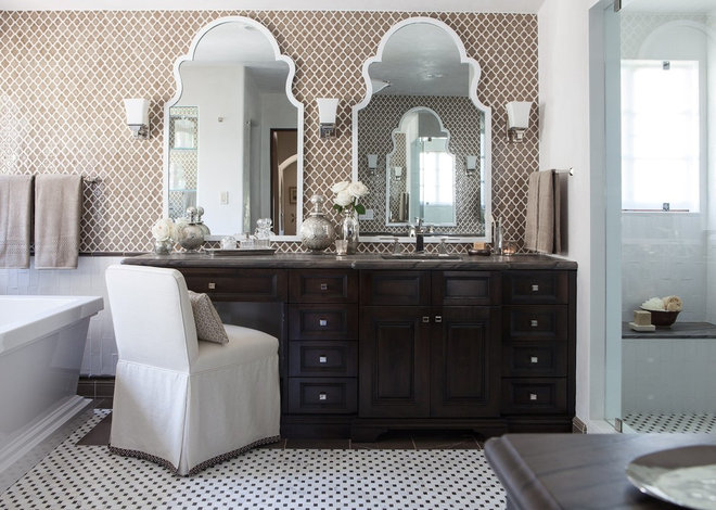 Mediterranean Bathroom by Kathryne Designs, Inc
