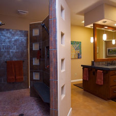 Transitional Bathroom by Interior Trends Remodel & Design
