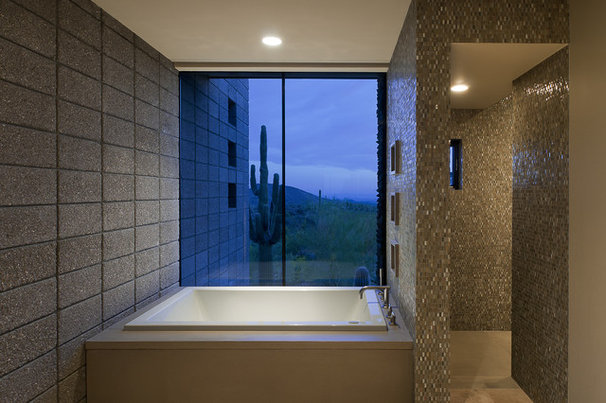 Southwestern Bathroom by Tate Studio Architects