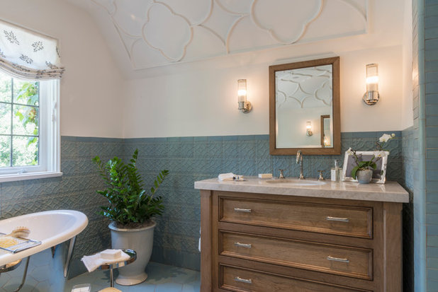 Beautiful Transitional Bathroom by Carolyn Reyes