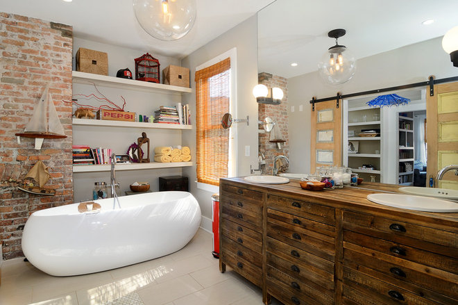 Eclectic Bathroom by Hudson Place Realty
