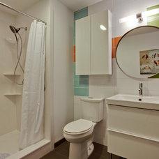 Modern Bathroom by PBH Construction