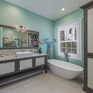 Turquoise And Gray Bathroom Ideas | Houzz