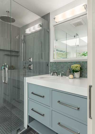 Transitional Bathroom by Design Harmony