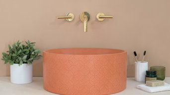 Peachy & Playful Powder Room
