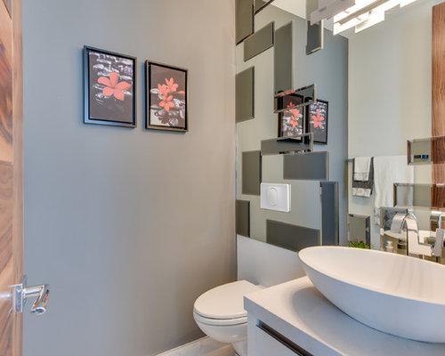 Bagno con doccia con piastrelle a specchio - Foto, Idee, Arredamento