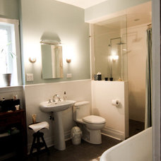 Transitional Bathroom by MG Build Inc