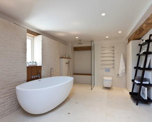 Zementfliesen Bodengleiche Dusche: Handwerk Zementfliesen Verlegen ... Badezimmer Landhausstil Dusche