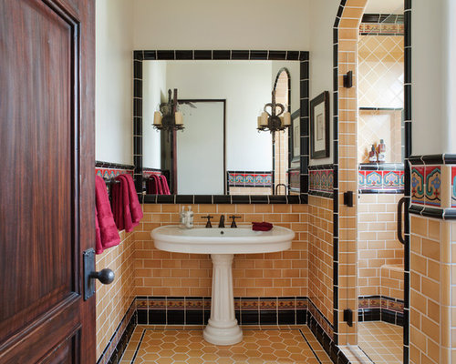 Spanish style bath home design ideas pictures remodel for Spanish style bathroom