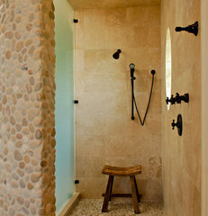 tropical bathroom by Christopher A Rose AIA, ASID