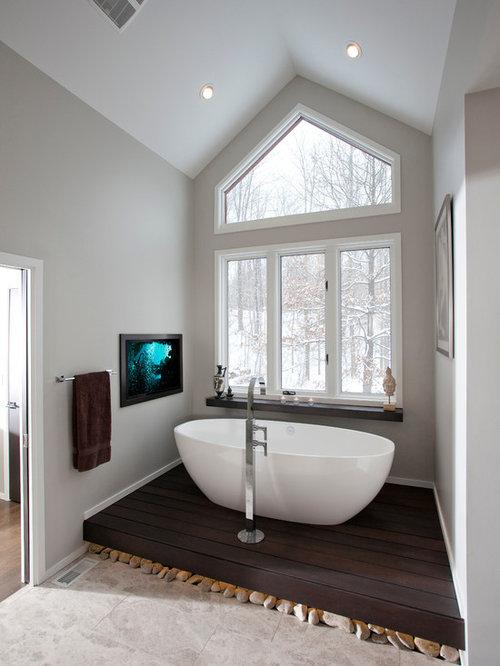 Miami Bathroom Design Ideas Renovations Photos With Dark Hardwood Floo