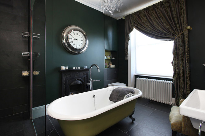 Transitional Bathroom by Morgan Harris Architects Ltd
