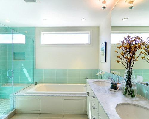 Turquoise tile houzz for Bathroom ideas houston