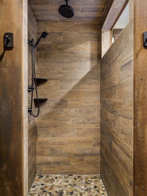 75 Rustic Bathroom With Granite Worktops Design Ideas