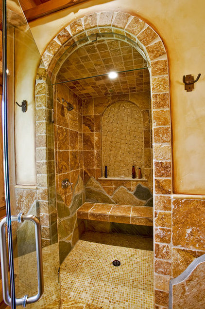 Mediterranean Bathroom by Debbie Evans Interior Design