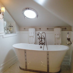 "Penhaglion Tubs In Client's Homes - 'The Nautica' 68"" Cast Iron French Bateau Tub Package"