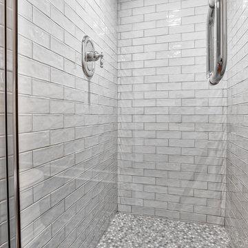 Penny Tile Guest Shower