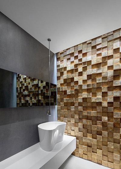 Модернизм Ванная комната by Rozen Architects רוזן אדריכלים