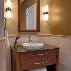 Modern Bathroom by TZS Design