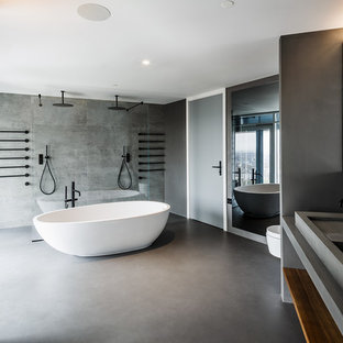 This is an example of a modern bathroom in London.