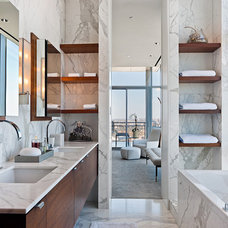 modern bathroom by MORE design+build