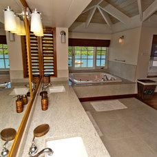 Tropical Bathroom by Petal Douglas Design
