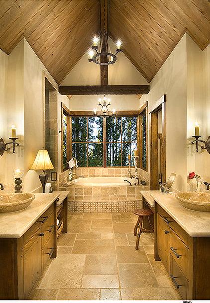 Rustic Bathroom by THID