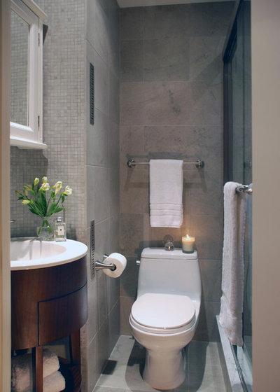 Transitional Bathroom by Peter S. Balsam Associates