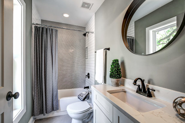 Transitional Bathroom by Carl Mattison Design