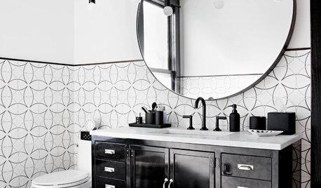 Bagno Con Mosaico Nero : Bellissimi bagni con piastrelle bianche e nere