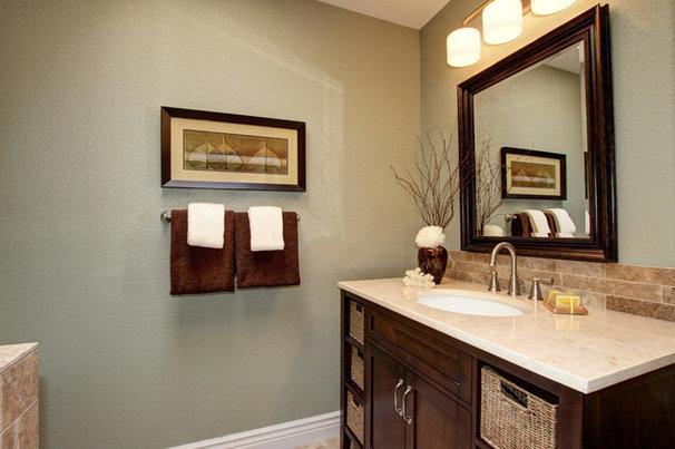 Farmhouse Bathroom by Ultimate Designs