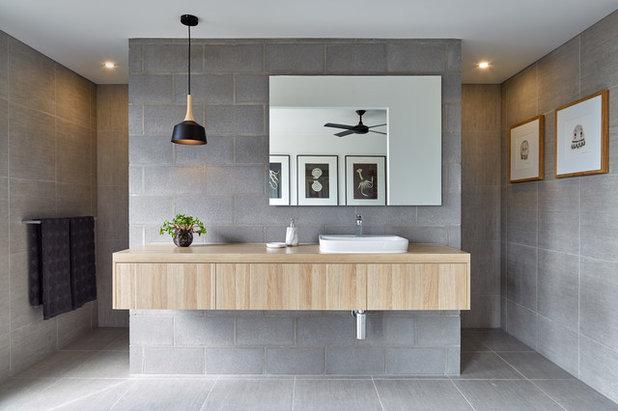 モダン 浴室 by JT Photo