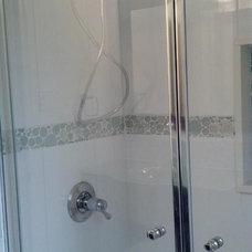 Contemporary Bathroom by Interiors by Mari, LLC