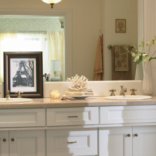 Inspiration for a beach style bathroom remodel in Orange County