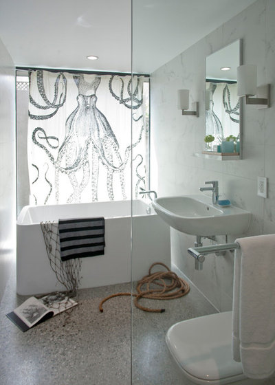 Contemporary Bathroom by Three Legged Pig Design