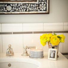 Traditional Bathroom by Laura Martin Bovard