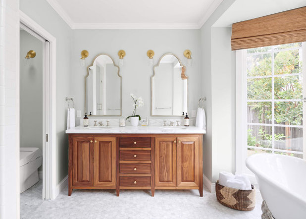 Transitional Bathroom by Samantha Moss Color + Design