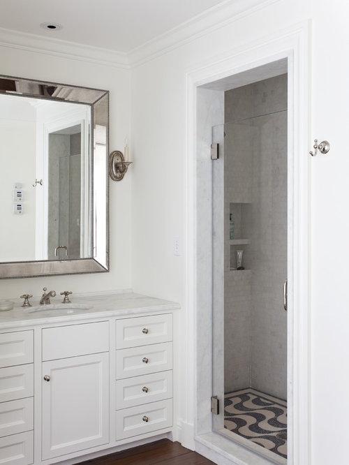 hidden shower door houzz. Black Bedroom Furniture Sets. Home Design Ideas