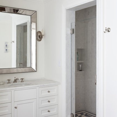 Example of a classic mosaic tile bathroom design in San Francisco
